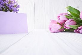 picture of valentine card  - tulips and post card - JPG