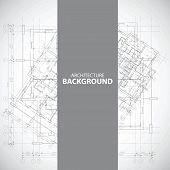 picture of blueprints  - Monochrome architecture background with divided blueprint fragment - JPG