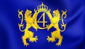 image of sweden flag  - 3D Flag of Kristianstad Sweden - JPG