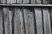 picture of dingy  - Old fence from dingy planks - JPG