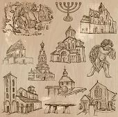 stock photo of freehand drawing  - RELIGIOUS around the World  - JPG
