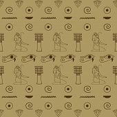 pic of hieroglyph  - pattern of Egyptian hieroglyphics beige  - JPG