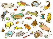 foto of poo  - Doodle cartoon cats and dogs set  - JPG