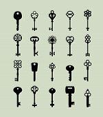 pic of skeleton key  - Icon set of keys - JPG
