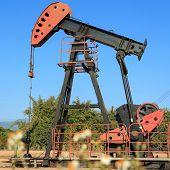 stock photo of texans  - Oil Pump Jack  - JPG