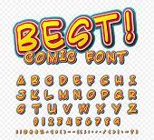 stock photo of alphabet  - Creative high detail comic font - JPG