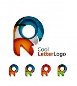 stock photo of flow  - Letter company logo design - JPG