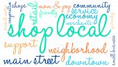 foto of local shop  - Shop local word cloud on a white background - JPG