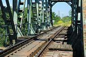 image of serbia  - Old train bridge near Zrenjanin  - JPG