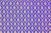 picture of batik  - close up pattern texture of general traditional thai style native handmade batik fabric weave - JPG