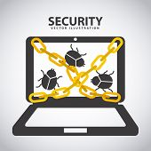 pic of virus scan  - security system icon  - JPG
