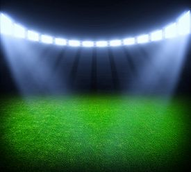 picture of lamp shade  - the soccer stadium with the bright lights - JPG