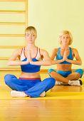 Beautiful women meditating