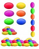 picture of jelly beans  - 3d background or frame - JPG