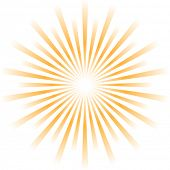 Vector abstracto Sunburst