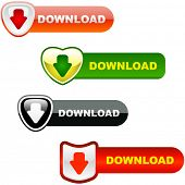 Download icons. Vector set.