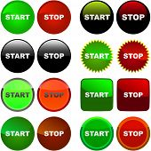 START and STOP button set