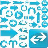Arrow set vector for design.