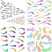 Set of arrows. Great collection. Vector illustration.