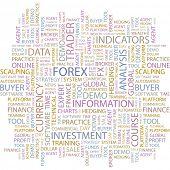 FOREX. Wordcloud vector illustration.