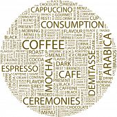 COFFEE. Word collage. Vector illustration.