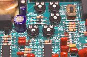 picture of plc  - a closeup of a printed circuit board