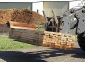 Stack Of Oak Lumber On A Loader
