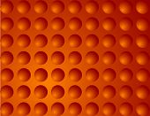 Orange Abstract Plastic Like Bubbles Background - Vector Illustration