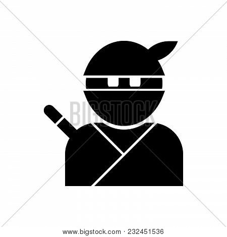 Ninja Vector Icon On White
