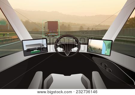 Self Driving Electric Truck On
