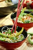 Rice Noodles In Spicy Souche. poster