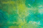 Colorful Hand Painted Watercolor Background. Yellow, Green And Blue Watercolor Brush Strokes. Abstra poster