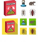 Staff, Packing With Poison And Pests Cartoon, Flat Icons In Set Collection For Design.pest Control S poster