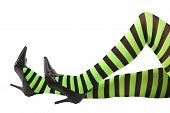picture of wiccan  - Sexy green and black striped witch - JPG