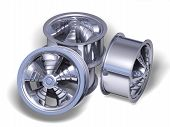 Four Chromed Helix Rims