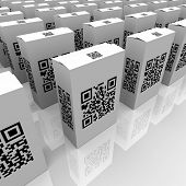 Many product boxes feature QR codes for scanning with a smart phone or other device, useful for detailed information or comparison of similar goods or merchandise in retail