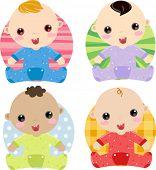 Vector illustration of babies