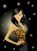 Disco glamour girl