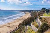 Bournemouth Beach Hillside View On A Sunny Day poster