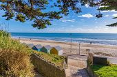 View Of Bournemouth Beach And Nature In England, Uk poster