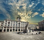 Piazza Unità Di Italia (unity Of Italy Square) Main Square In Trieste, A Seaport City In Northeast I poster
