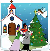 Church Carolers.Eps