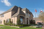 Model Home And Construction Office In Irving, Texas, Usa poster