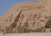 stock photo of aswan dam  - The temples at Abu Simbel, one of the main tourist attractions of Egypt ** Note: Slight graininess, best at smaller sizes - JPG