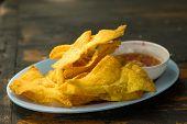 Fried Dumplings :chinese Food,asian Food. Deep Fried Wonton poster