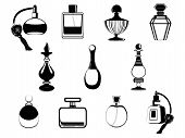 Vetor de frascos de perfume