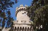 Round tower, Palace of the Grand Masters, Rhodes.