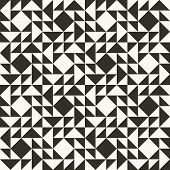 Black And White Abstract Geometric Quilt Pattern poster