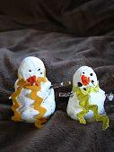 Bonecos de neve sólidos