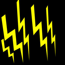 picture of lightning bolt  - Art Illustration of lightning bolts created in Photoshopisolated on black - JPG